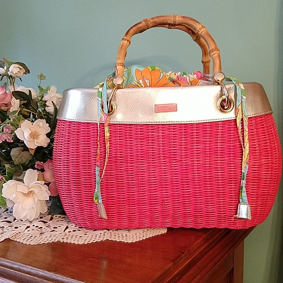 Lilly Pulitzer Handbags - Lilly Pulitzer Garden Party Basket Bag